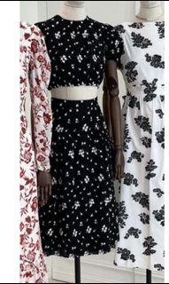ERDEM黑白繡花洋裝,全新僅拆牌