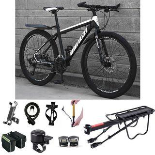"""FREE ASSEMBLY / DELIVERY INSTOCKS 26 inch 21 Speeds Mountain Bike MTB 26"""" Bicycle delivery rear rack Thermal bag Hybrid Road bicycle Cycle [1-3 Days Delivery].*SELLING FAST*.💥Whatapp us at 88918377💥"""