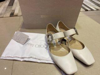 Jimmy Choo白色復古娃娃鞋,9.5新37