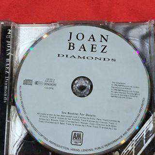 Joan Baez Diamonds Music CD front inlay missing