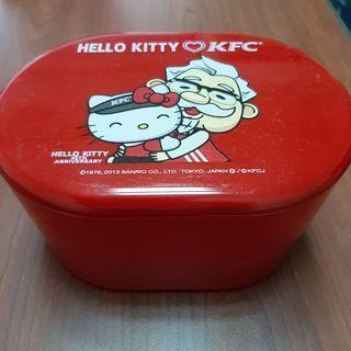KFC x Hello Kitty 40週年聯名限定 雙層便當盒 保鮮盒 【日式二手店 大和堂】