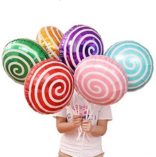Lollipop Candy Swirl Happy Birthday Foil Balloons Party Needs