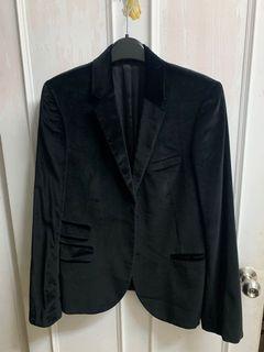 Neil Barrett 黑色 高級絨布 西裝外套🖤