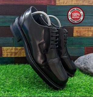 sepatu Clarks Witcombe police shoes black leather Size 42