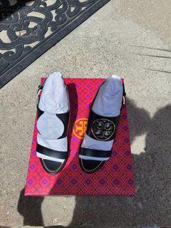 Tory Burch Metal Miller Wedge Sandals