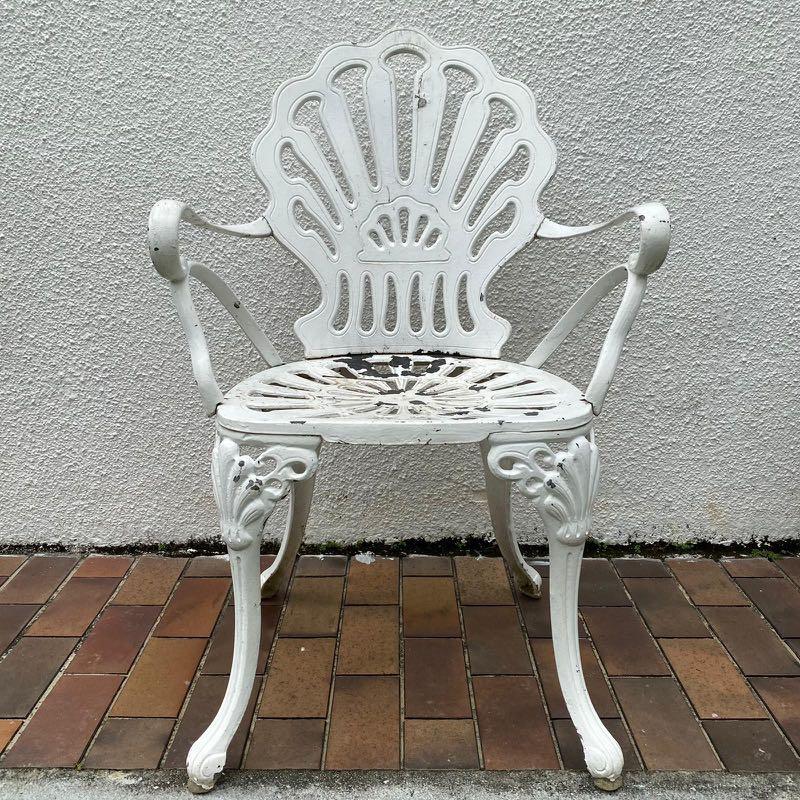 Wrought Iron Chair Furniture Home, White Rod Iron Patio Furniture