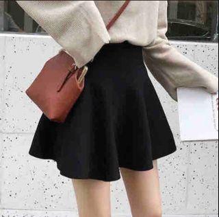 韓妞高腰顯瘦針織美腿短裙