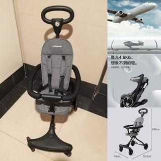 #支持 Baobaohao一鍵折疊秒收嬰兒推車 溜娃神器 高級灰 4.6kg