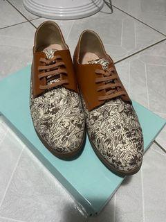 Bonjour 可踩穿德比綁帶鞋(社團限定印花色)