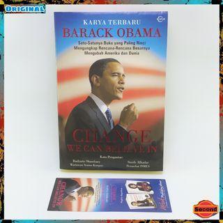 Buku Politik By Presiden Barack Obama Original   Change We Can Believe In