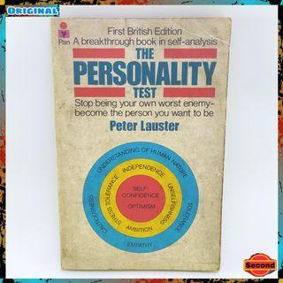 Buku Tes Kepribadian Jadul Original Tahun 1976 By Peter Lauster   The Personality Test