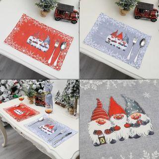 Christmas Gnome Placemat Home Decoration