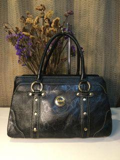 Crocodile… Black Snake/Reptile Embossed Handbag