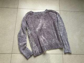 Gap Velvet Knit Sweater in Silver/Grey | Sweater abu