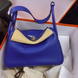(HOLD)絕不議價Hermes Lindy 26 Electric Blue C stamp full set with hermes receipt