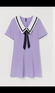 徵!此件H&m紫色大力水手裙洋裝