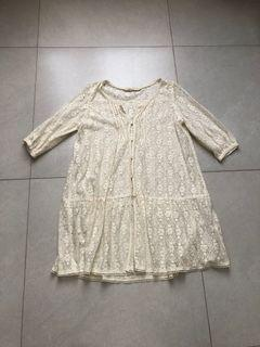 Cottagecore / Cottage core | Japanese Lace Blouse / Outer | Blus renda putih