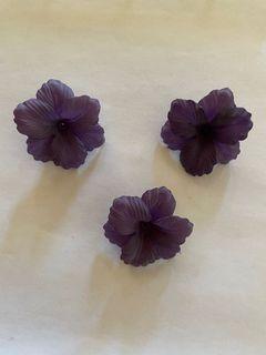 Matte Grape 3Petal Vintage Lucite Flower Bead