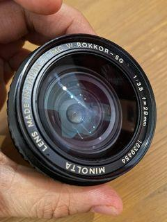 MINOLTA MC W.ROKKOR-SG 28mm f3.5 (Lens Only)