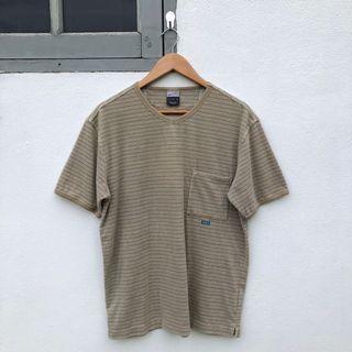 Nike Small Swoosh Back Stripes Coudroy Single Pocket Ringer Tshirt
