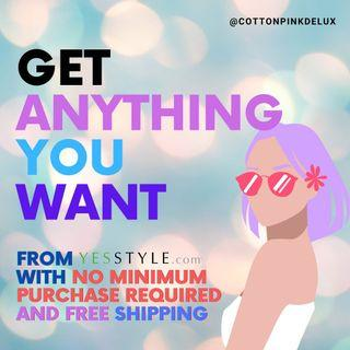 Order YESSTYLE with me