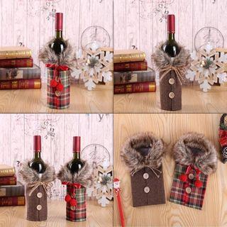 Unique Christmas Wine Bottle Cover