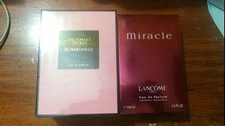 VS bombshell & Lancome Miracle authentic US tester perfume