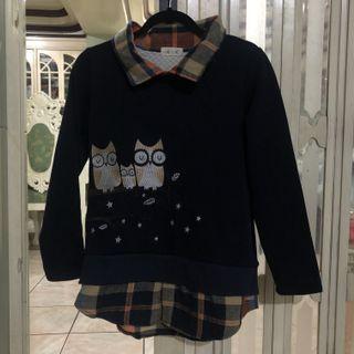 Yesstyle Fairyland owl plaid sweater