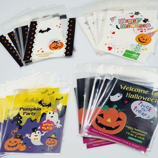 🆕️ 10cm Trick or Treat / Happy Halloween 40pcs Cookie Candy Souvenir Self Adhesive Plastic 🍪🍬