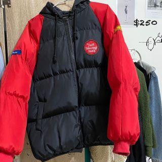 黑紅麵包外套