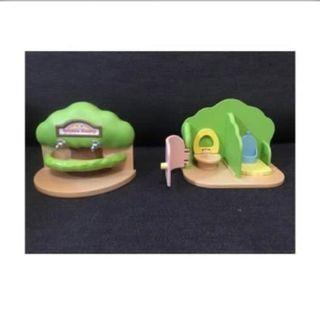 森林家族遊樂場廁所  正版 二手無盒
