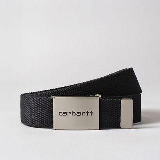 正品 Carhartt WIP Clip Belt Chrome 卡哈 皮帶 帆布 金屬頭 腰帶