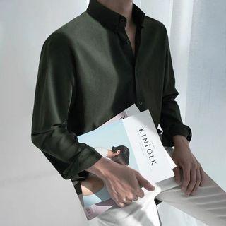 【 Gshop.】襯衫男長袖韓版痞帥氣男士正裝外套秋季休閒男裝襯衣