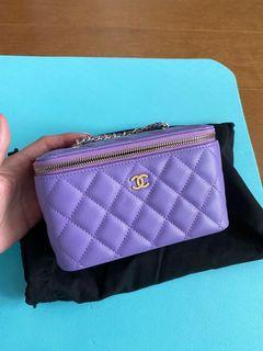 Chanel Purple Vanity bag
