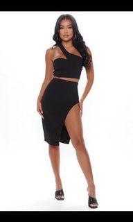 Fashion nova flirty nights midi skirt set