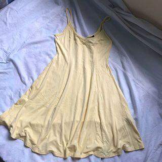 Forever 21 pastel yellow flowy dress