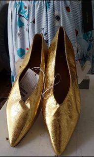 Gold with cute heels