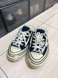 #集氣 Xvessel S19X003b 解構鞋 男鞋EUR45 帆布鞋 踩後跟 拖鞋