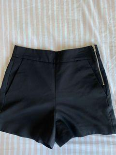 Zara Black Highwaist Shorts