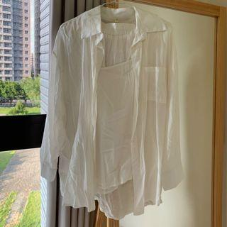 白色休閒感懶人套裝