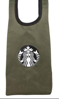 星巴克雙耳手提飲料袋-軍綠