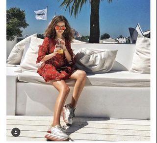 保證真品 HOGAN MAXI 紅心白鞋(37號)