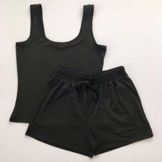 Black Terno Top & Shorts