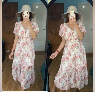 Brandnew Bangkok Floral Buttondown Midi Dress