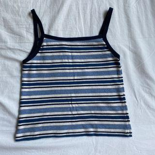 Brandy blue striped tank top