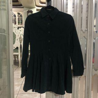 Dark green corduroy dress