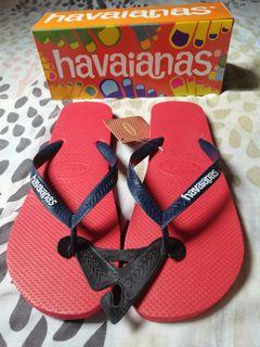 Havaianas Slippers Red Blue