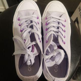 Pastel Purple Converse Shoe