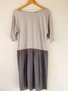 Plain Gray Dress Uniqlo