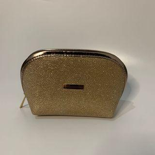 (Preloved like NEW) Gold Makeup Pouch